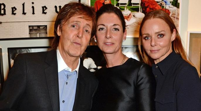 Paul McCartney with his daughters Stella and Mary