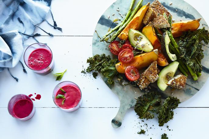 Veggie brunch board